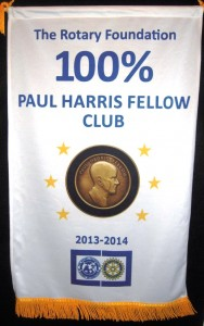 100% Paul Harris Fellows