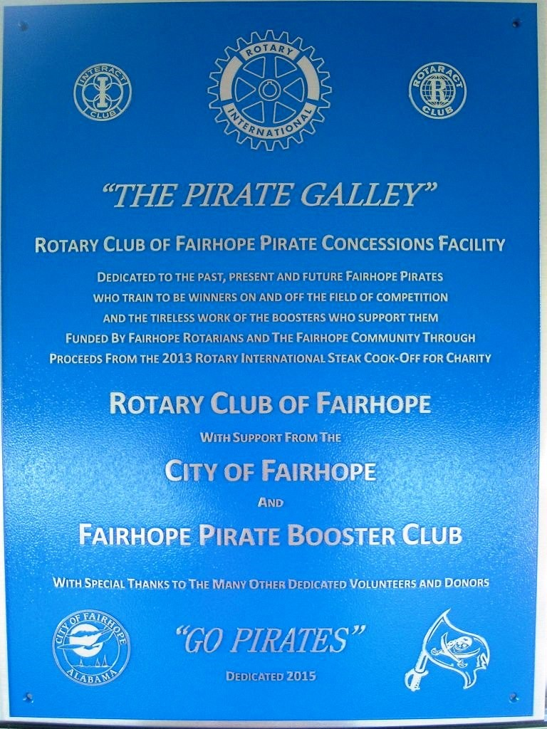 Pirate Galley plaque